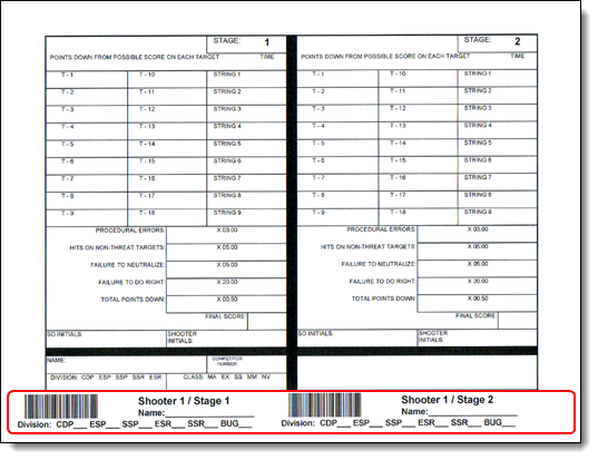 Printing Barcodes On Score Sheets For Club Matches